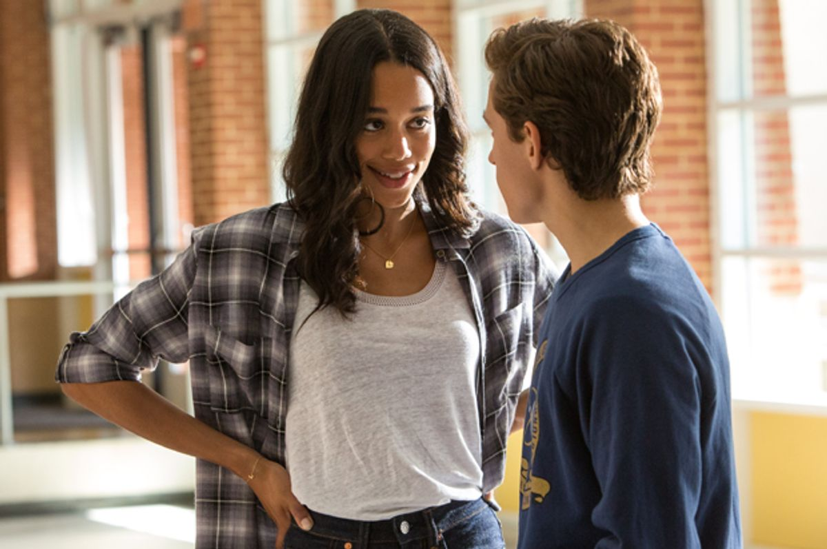 """Laura Harrier and Tom Holland in """"Spider-Man: Homecoming"""" (Columbia Pictures/Chuck Zlotnick)"""