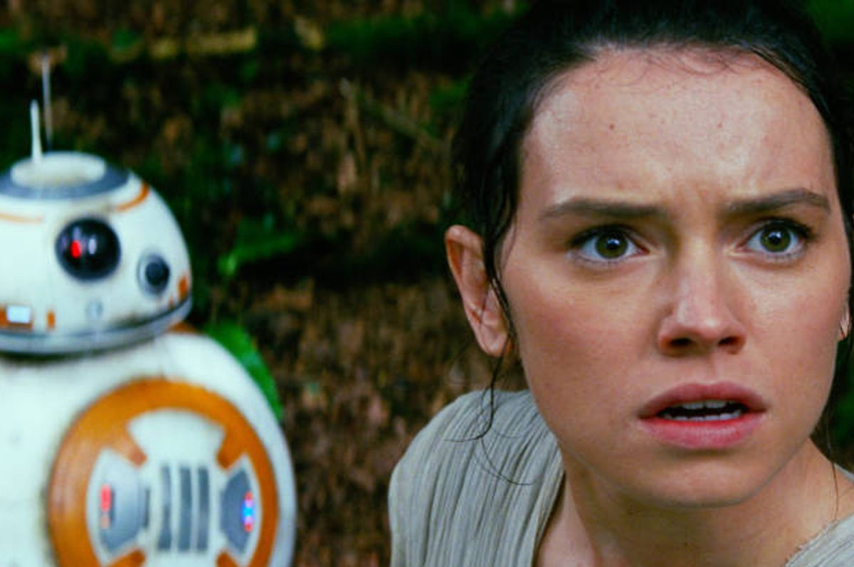 "Daisy Ridley as Rey in ""Star Wars: The Force Awakens"" (Disney/Lucasfilm)"