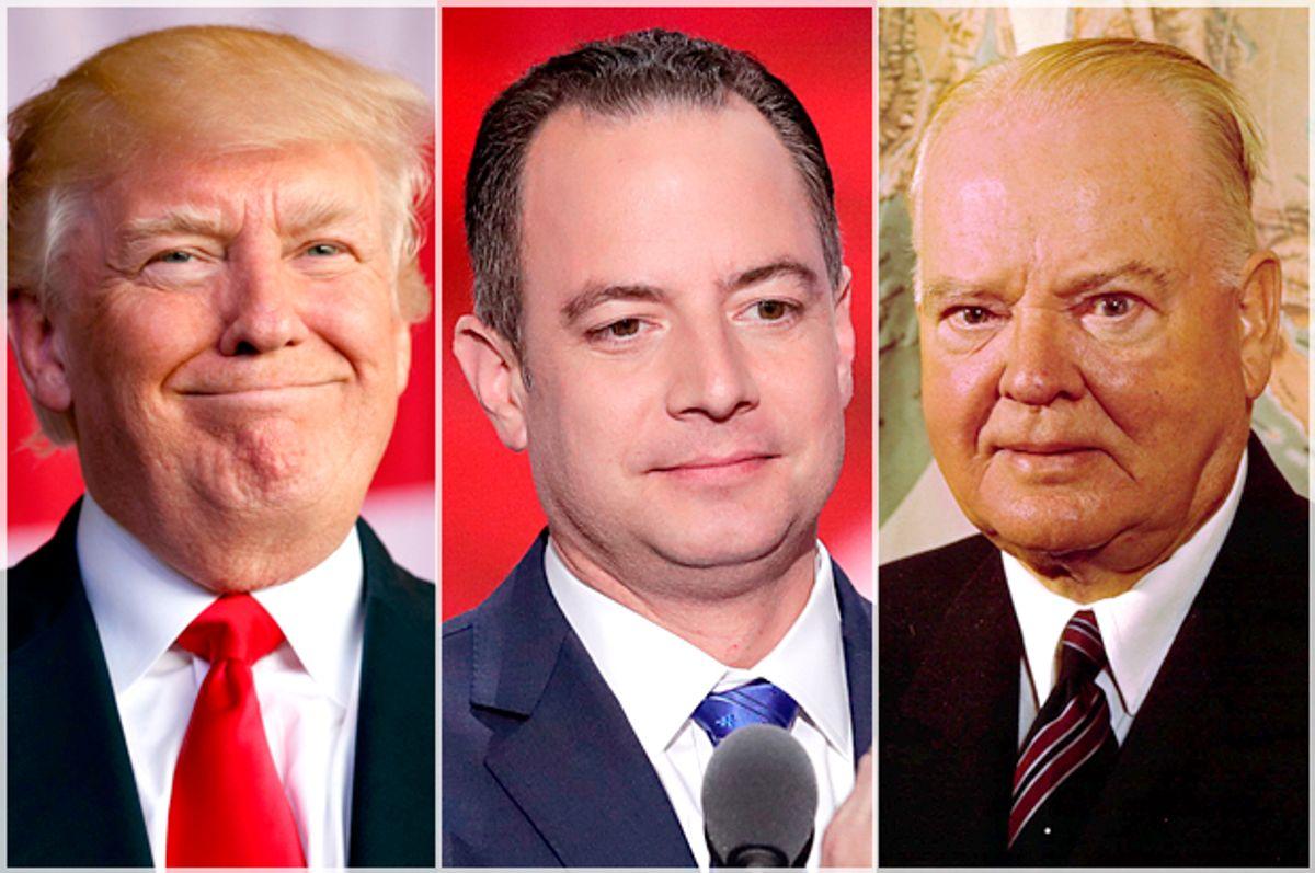Donald Trump; Reince Priebus; Herbert Hoover   (AP/Evan Vucci/J. Scott Applewhite/)