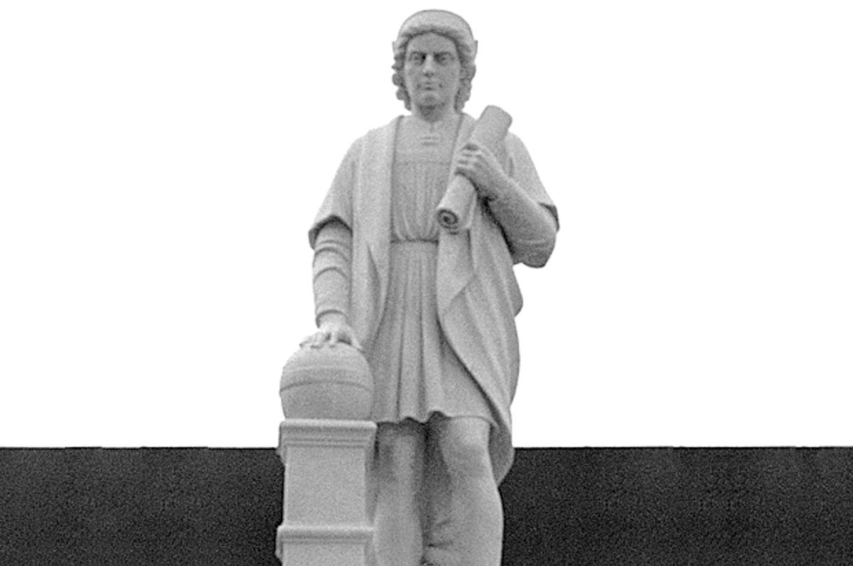Christopher Columbus Monument in Baltimore, Maryland (AP)