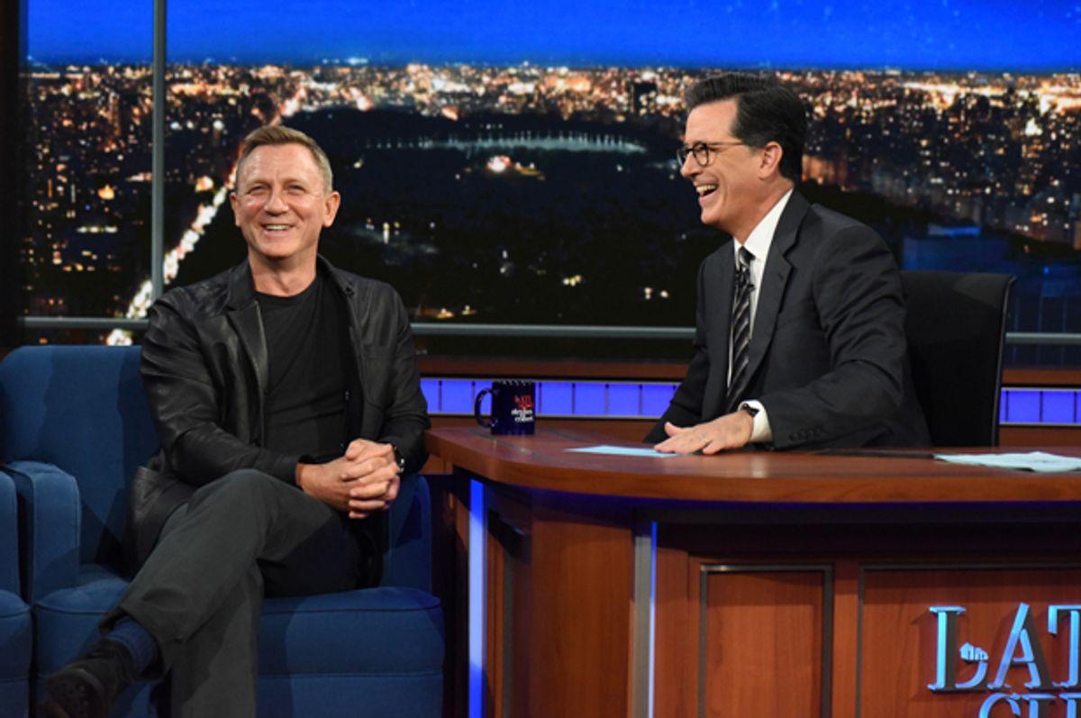 "Daniel Craig on ""The Late Show with Stephen Colbert""   (CBS/Scott Kowalchyk)"