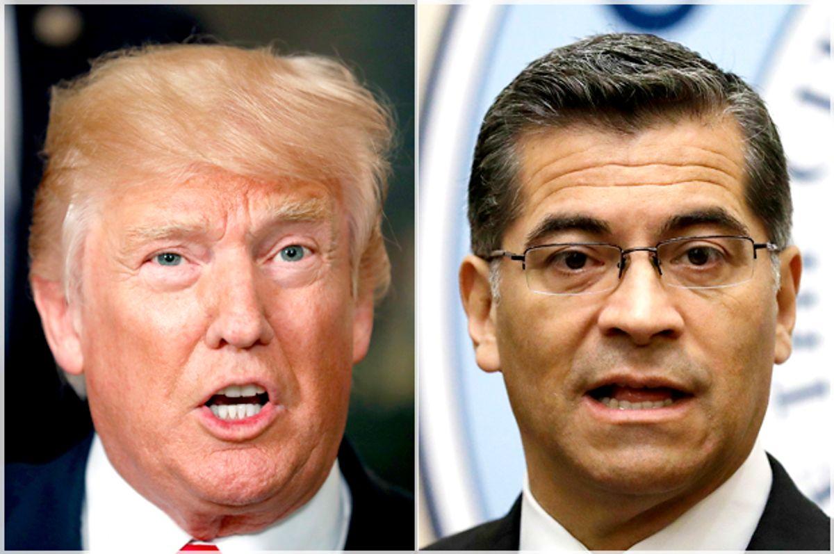Donald Trump; Xavier Becerra   (AP/Alex Brandon/Marcio Jose Sanchez)