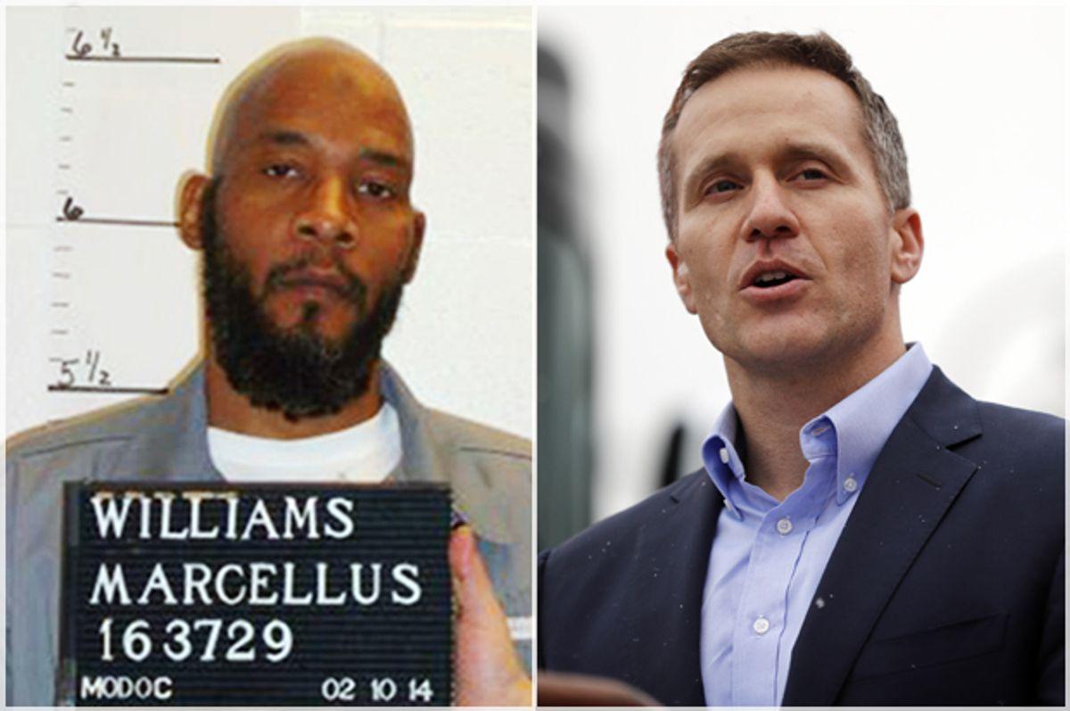 Marcellus Williams; Missouri Gov. Eric Greitens (AP/Missouri Department of Corrections/Jeff Roberson)