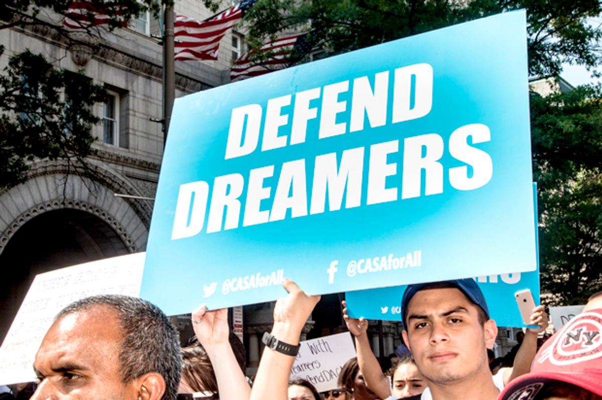 Supporters of the Deferred Action for Childhood Arrivals (Jeff Malet Photography)