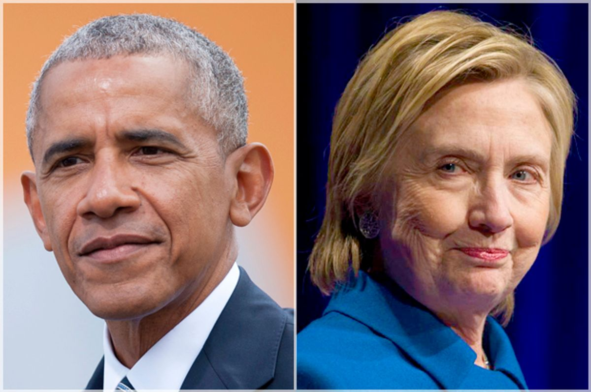 Barack Obama; Hillary Clinton   (Getty/Steffi Loos/AP/Cliff Owen)