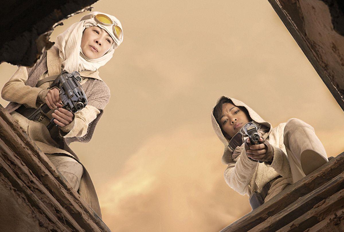 "Michelle Yeoh and  Sonequa Martin-Green in ""Star Trek: Discovery"" (CBS/Dalia Naber)"