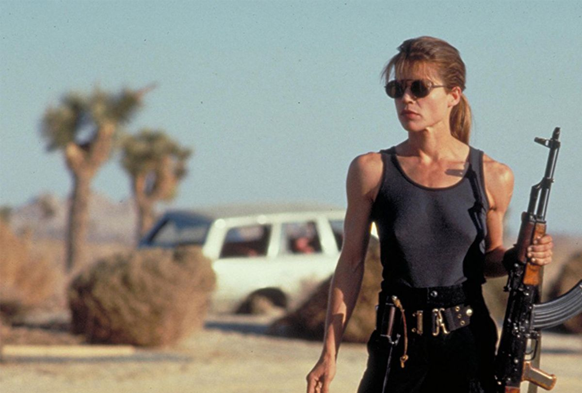 "Linda Hamilton in ""Terminator 2: Judgment Day"" (TriStar Pictures)"