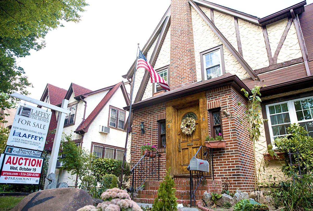 Donald Trump's childhood home in Queens (Getty/Drew Angerer)