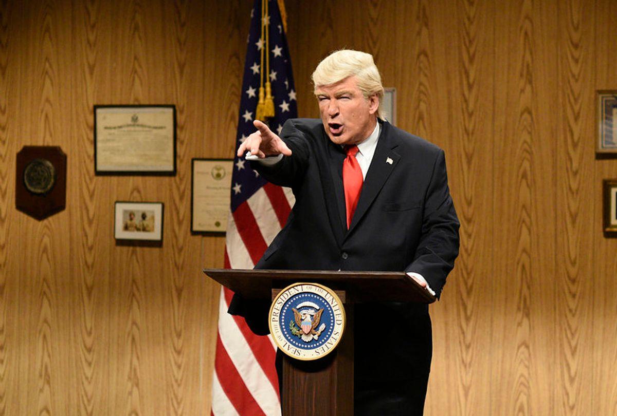 "Alec Baldwin as President Donald Trump on ""Saturday Night Live"" (NBC/Will Heath)"