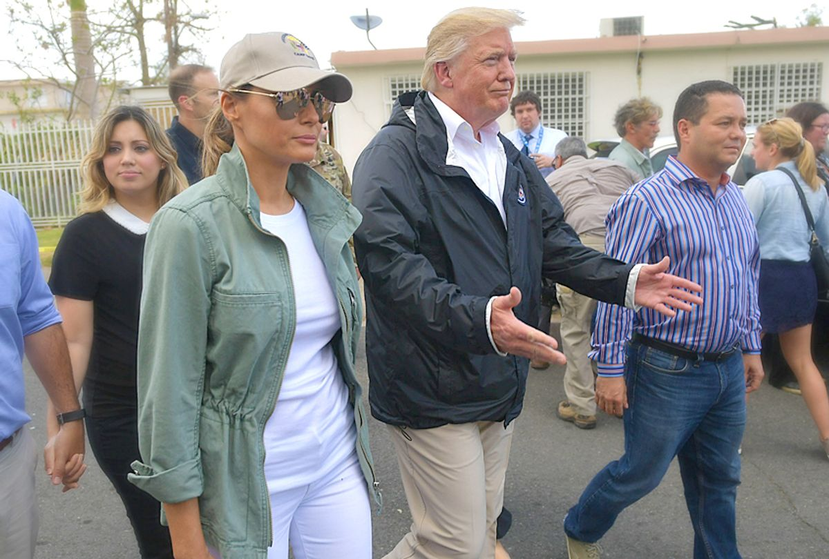 Donald Trump and Melania Trump visit residents affected by Hurricane Maria in Puerto Rico (Getty/Mandel Ngan)