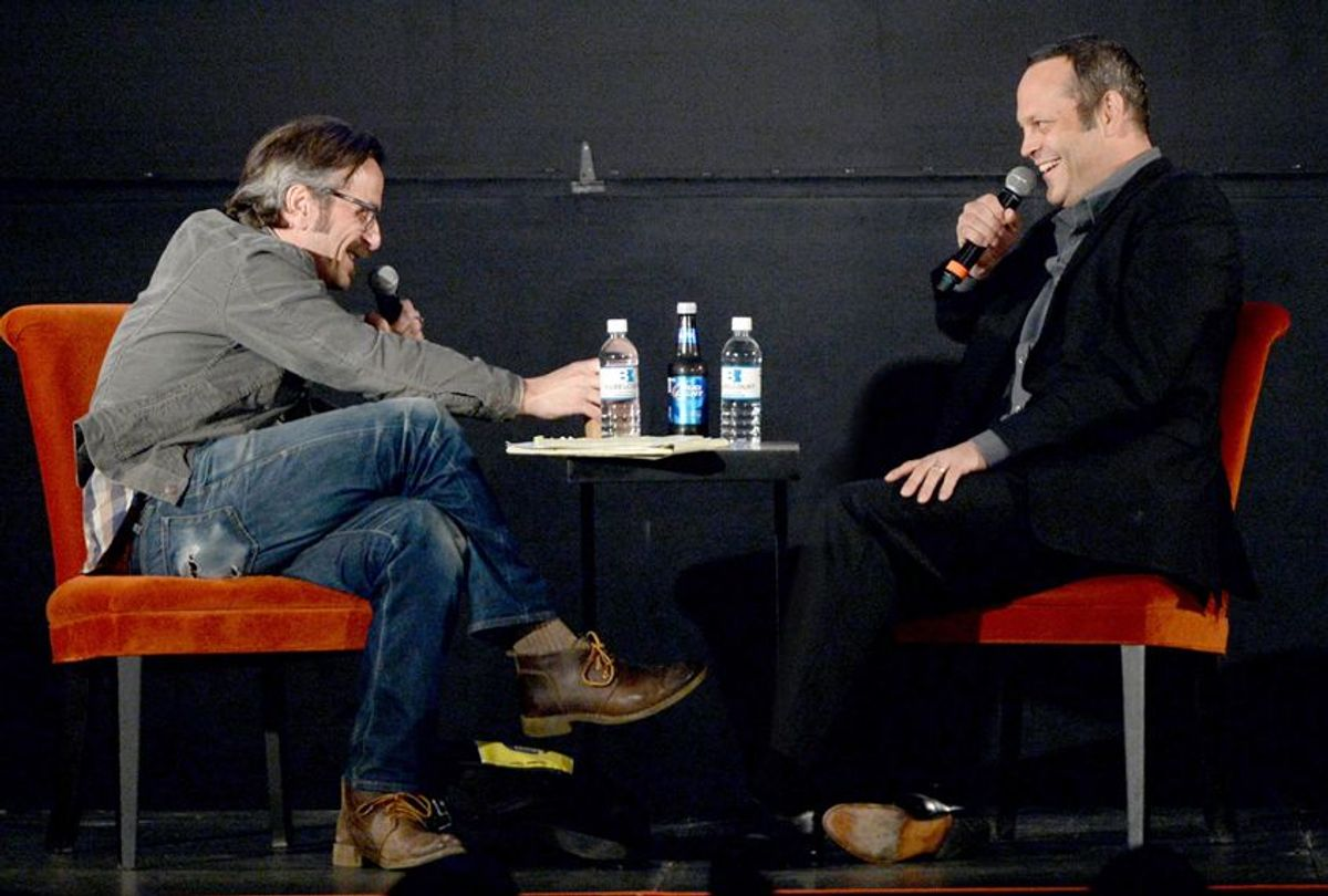 Marc Maron: WTF Podcast With Vince Vaughn at the Belcourt Theatre on May 15, 2014 in Nashville, Tennessee. (Getty/Rick Diamond)