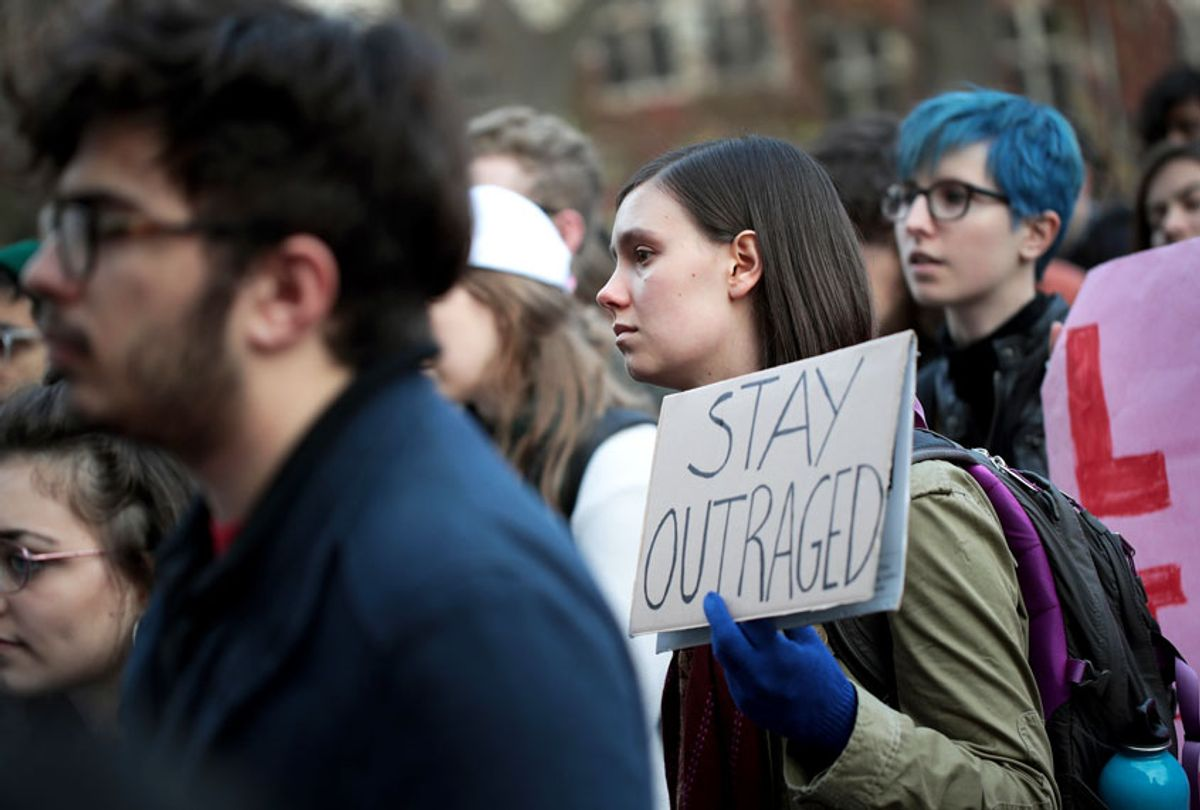 College students protesting (Getty/Scott Olson)