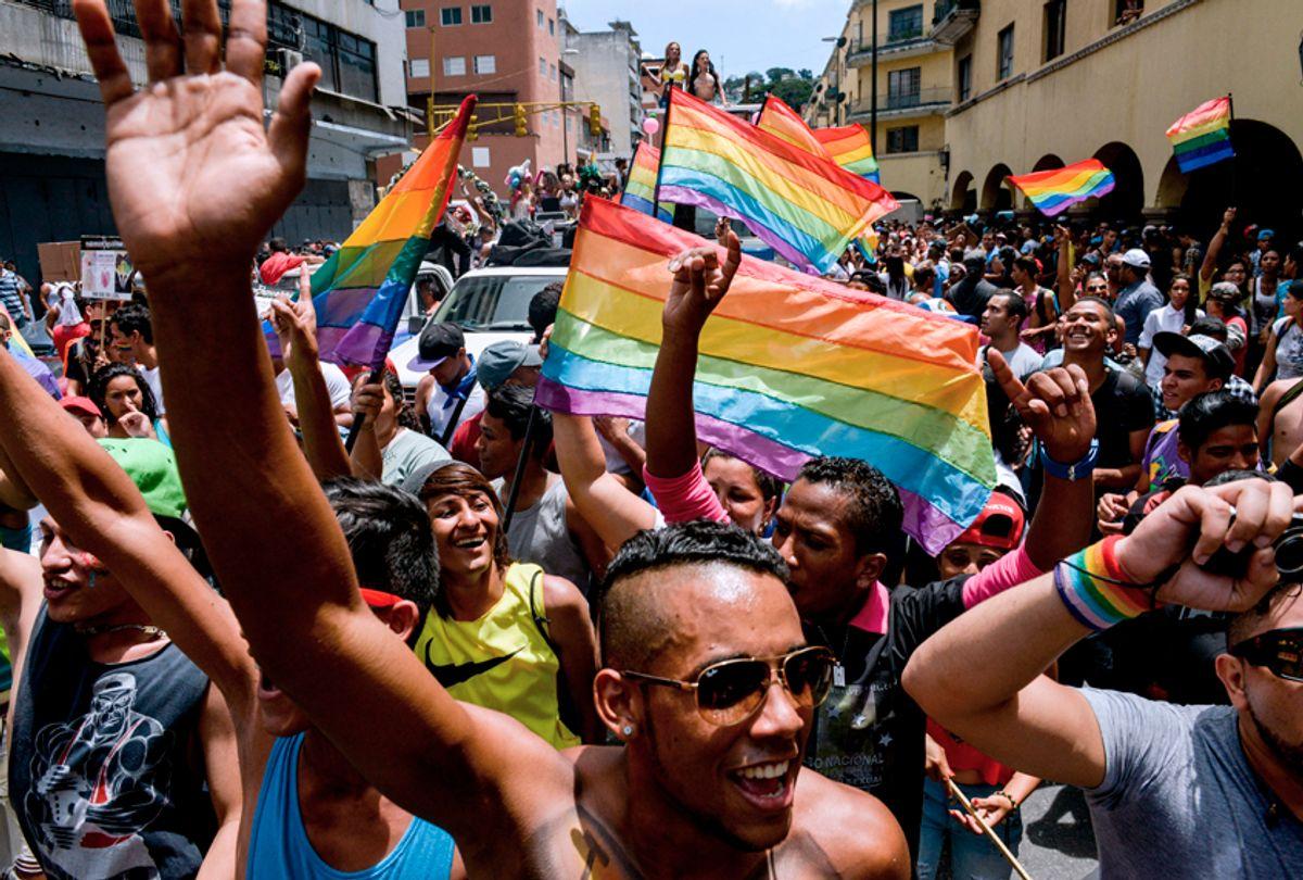 A Gay Pride Parade in Caracas, Venezuela, July 12, 2015. (Getty/Federico Parra)