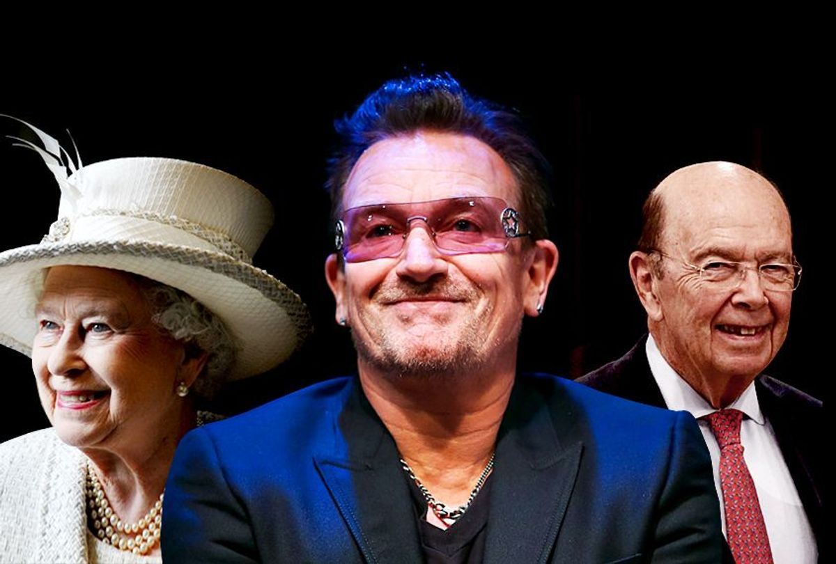 Queen Elizabeth; Bono; Wilbur Ross (Getty Images/Photo montage by Salon)