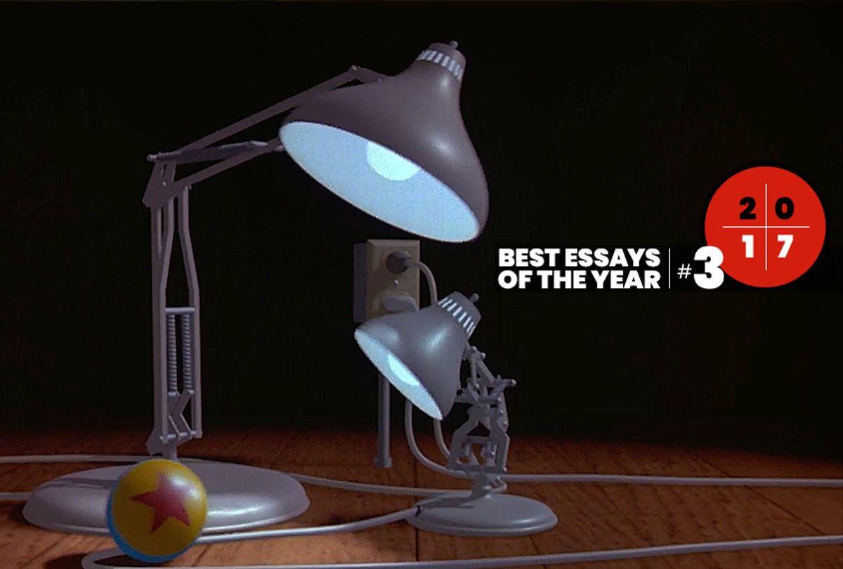 """A still from """"Luxo Jr.""""  (Pixar)"""