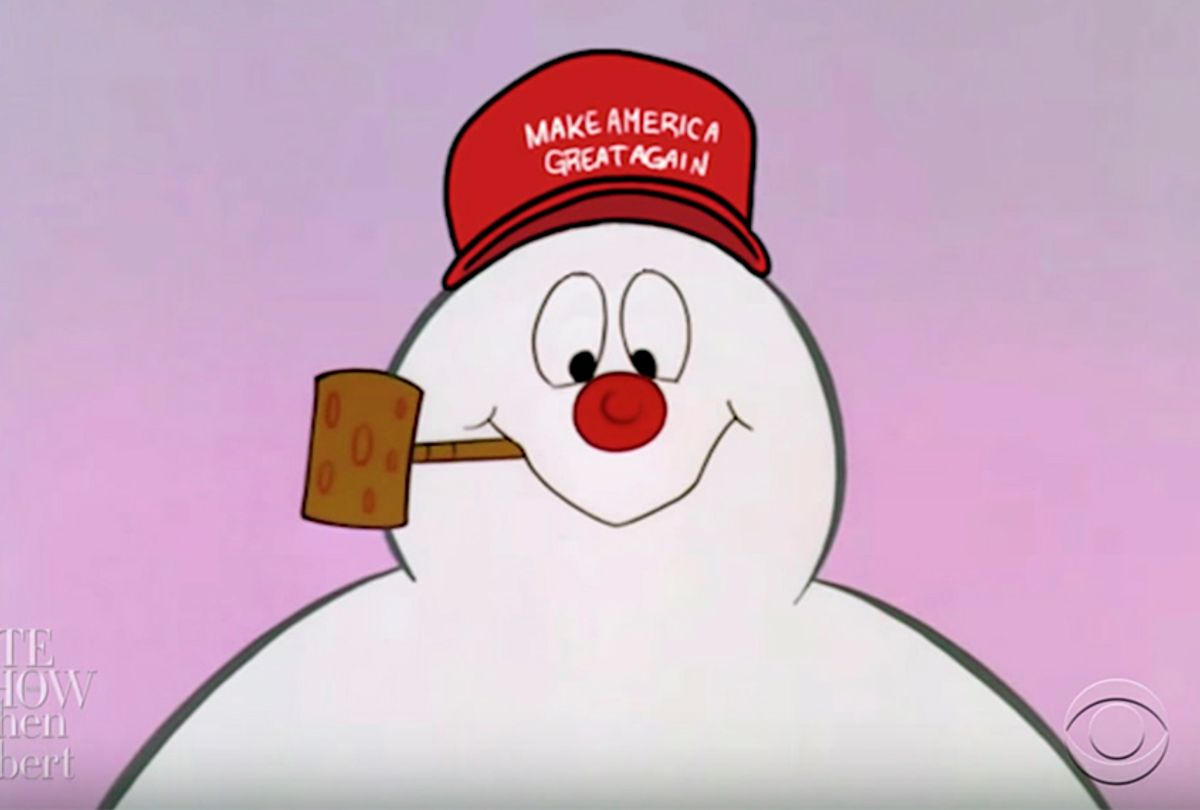 """Frosty The Snowman's New Hat on """"The Late Show with Stephen Colbert"""" (YouTube/The Late Show with Stephen Colbert)"""