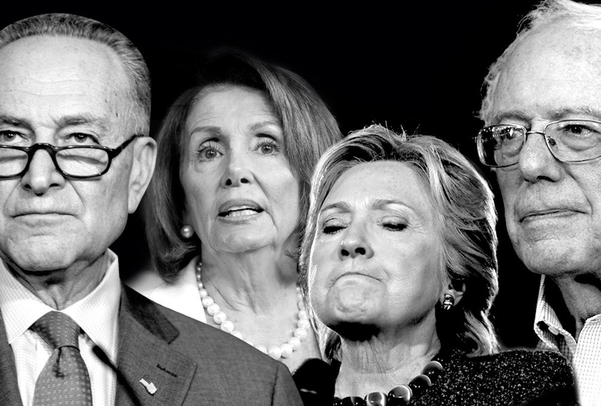 Chuck Schumer; Nancy Pelosi; Hillary Clinton; Bernie Sanders (AP/Getty/Salon)