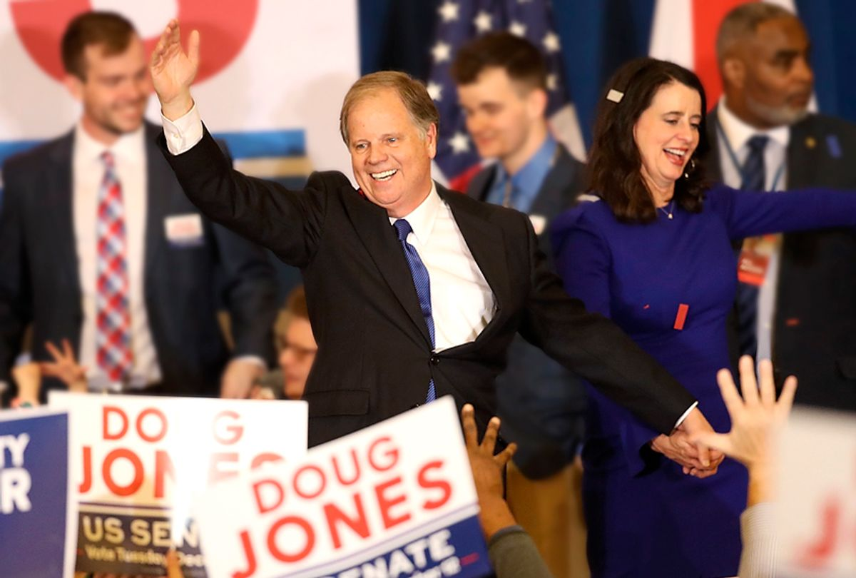Doug Jones defeated his republican challenger Roy Moore to claim Alabama's U.S. Senate seat that was vacated by attorney general Jeff Sessions (Getty/Justin Sullivan)