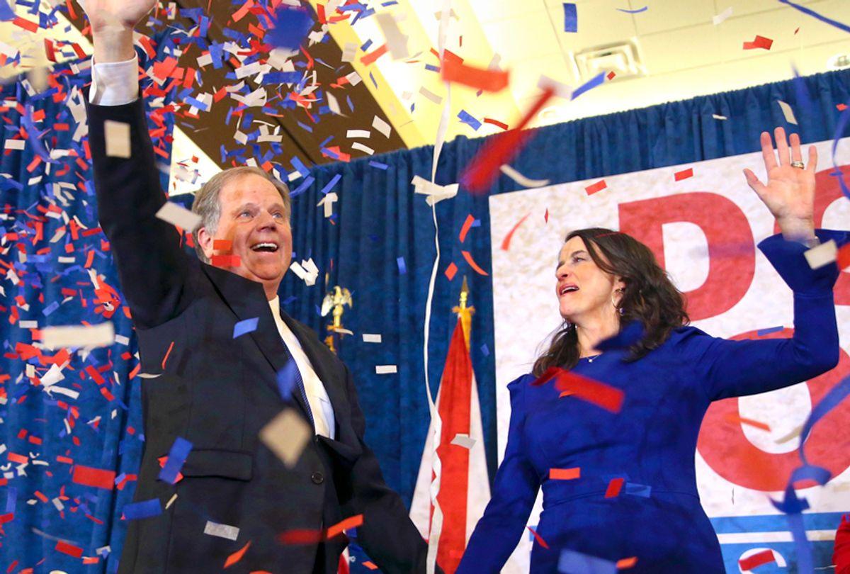 Doug Jones and his wife Louise (AP/John Bazemore)