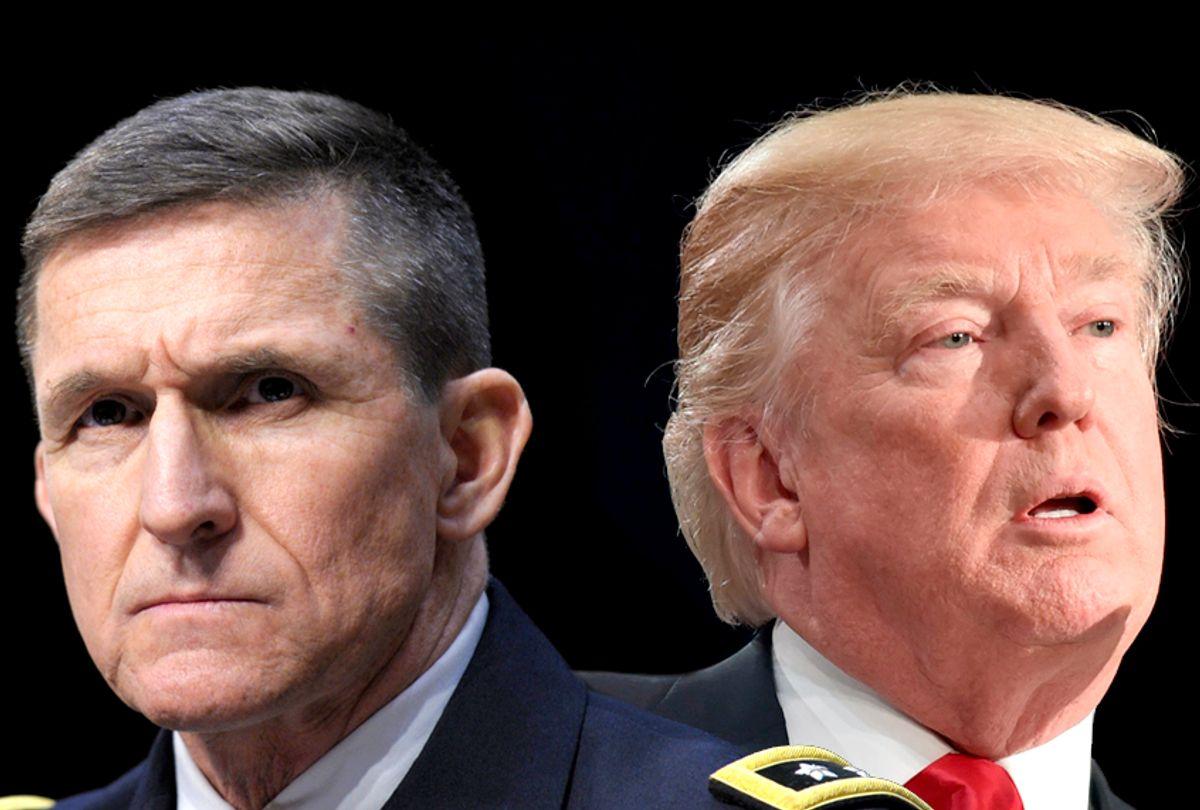 Michael Flynn; Donald Trump (AP/Susan Walsh/Getty/Nicholas Kamm/Salon)