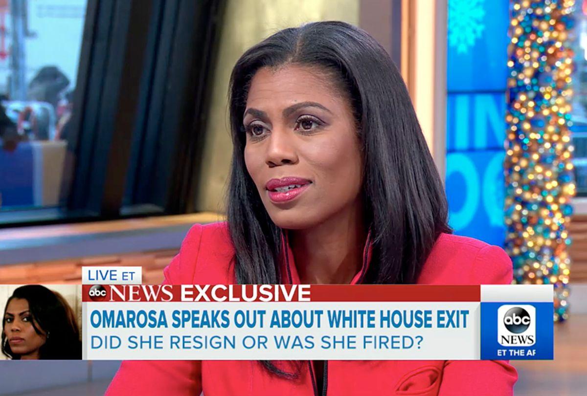 "Omarosa Manigault on ""Good Morning America"" (ABC)"