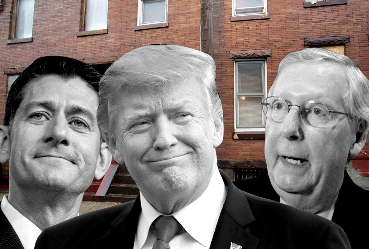 Paul Ryan; Donald Trump; Mitch McConnell (AP/Photo Montage by Salon)