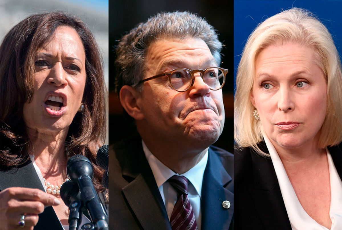 Kamala Harris; Al Franken; Kirsten Gillibrand (Getty Images)