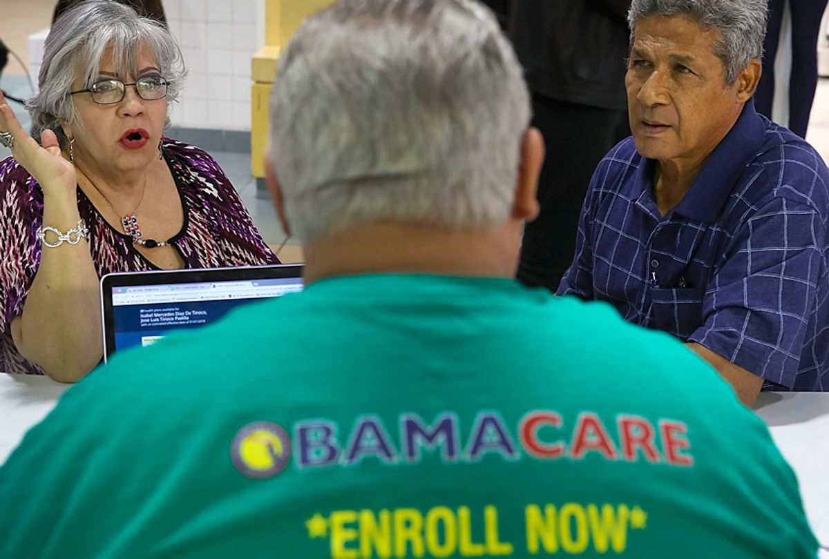 People sign up for insurance under the Affordable Care Act. (Getty/Joe Raedle)