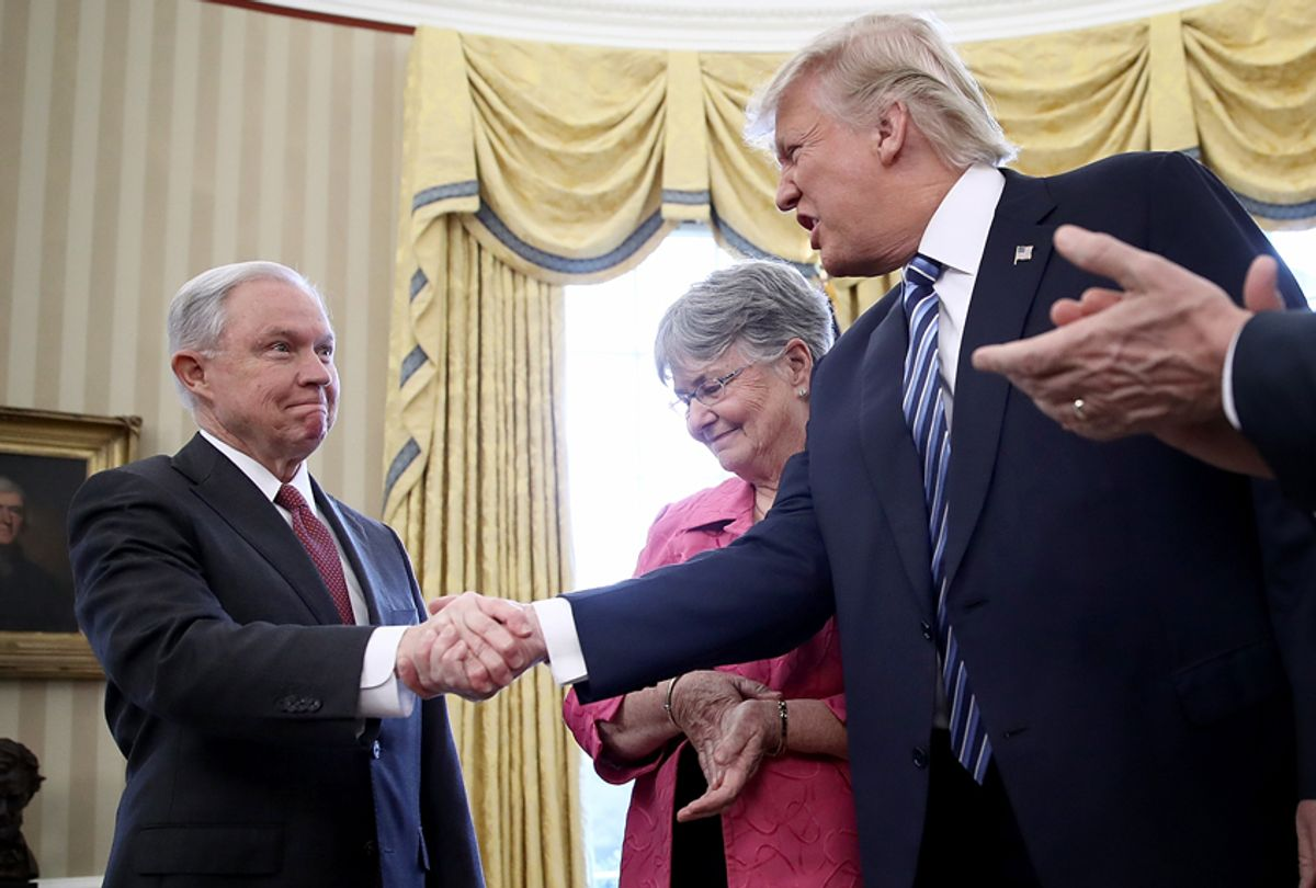 Jeff Sessions; Donald Trump (Getty/Win McNamee)