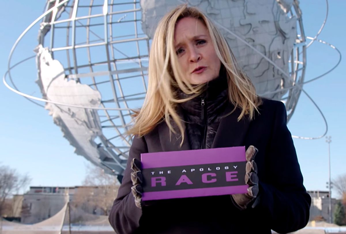 """Apology Race Part 1 on """"Full Frontal with Samantha Bee""""  (YouTube/Full Frontal with Samantha Bee)"""