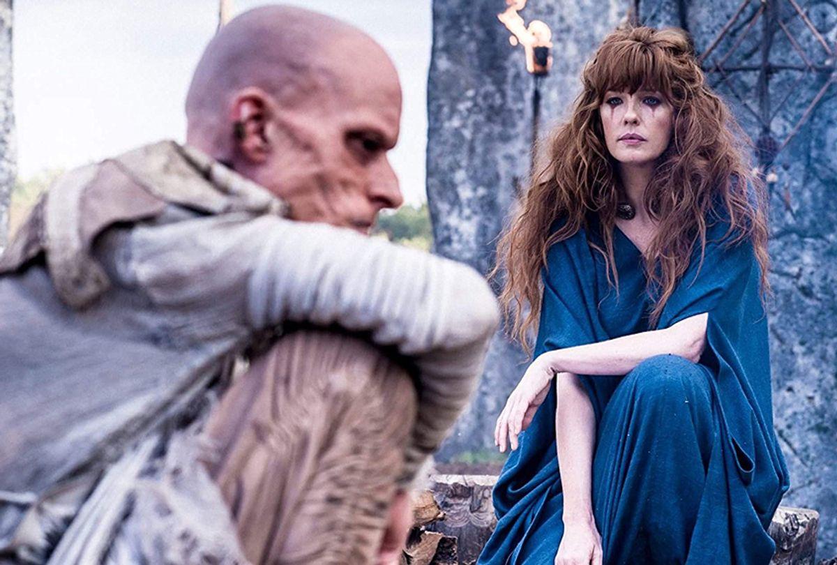 "Mackenzie Crook and Kelly Reilly in ""Britannia"" (Amazon Studios)"