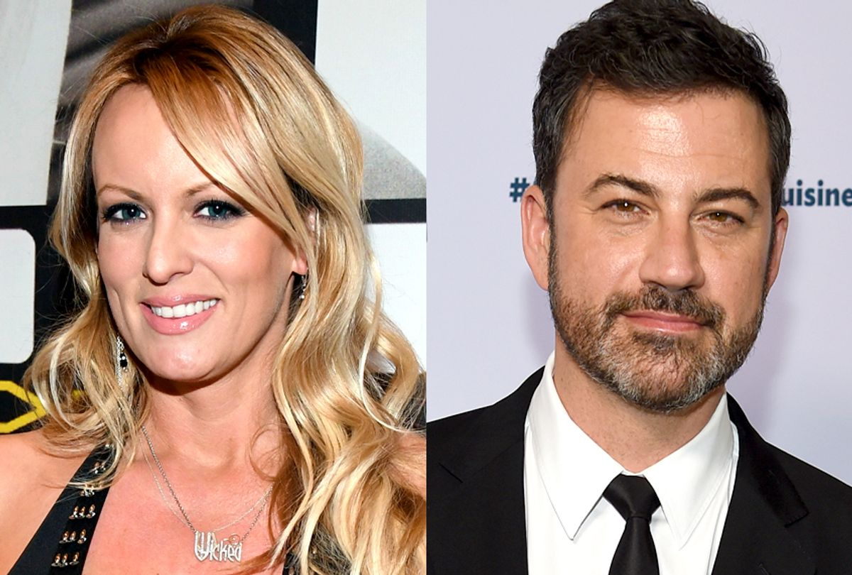 Stormy Daniels; Jimmy Kimmel (Getty/Ethan Miller/AP/Chris Pizzello)