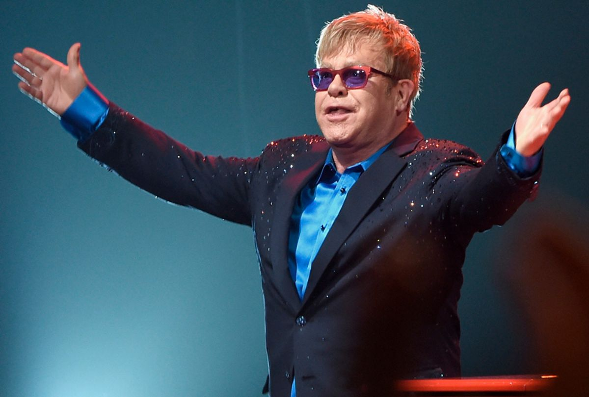 LOS ANGELES, CA - JANUARY 13:  Elton John performed songs from his new album Wonderful Crazy Night out February 5, as well as classic hits, on January 13th at the Wiltern in Los Angeles.  (Photo by Larry Busacca/Getty Images for Island Records) (Getty/Larry Busacca)