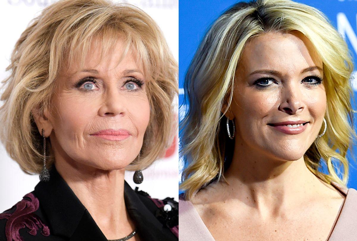 Jane Fonda; Megyn Kelly (AP/Richard Shotwell/Evan Agostini)