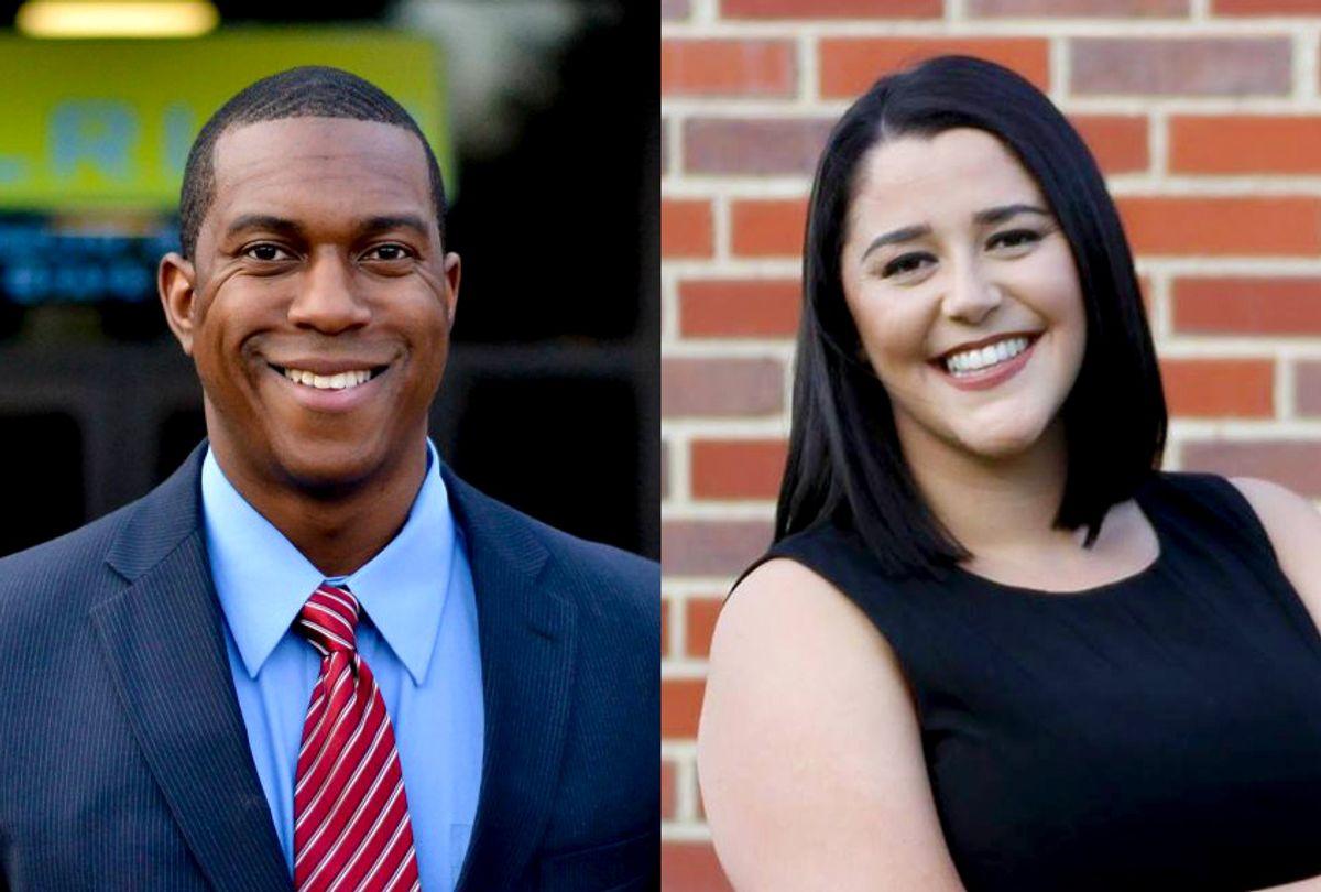 Newly elected Kansas politicians Brandon Johnson and Angela Becker (Ashwin Govindarajan/Maggie Smet)