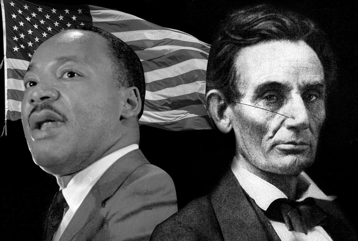 Martin Luther King Jr.; Abraham Lincoln (AP/Getty/Hulton Archive/dpetrakov)