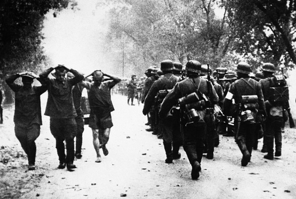 Russian prisoners during Nazi occupation in 1941 (AP)
