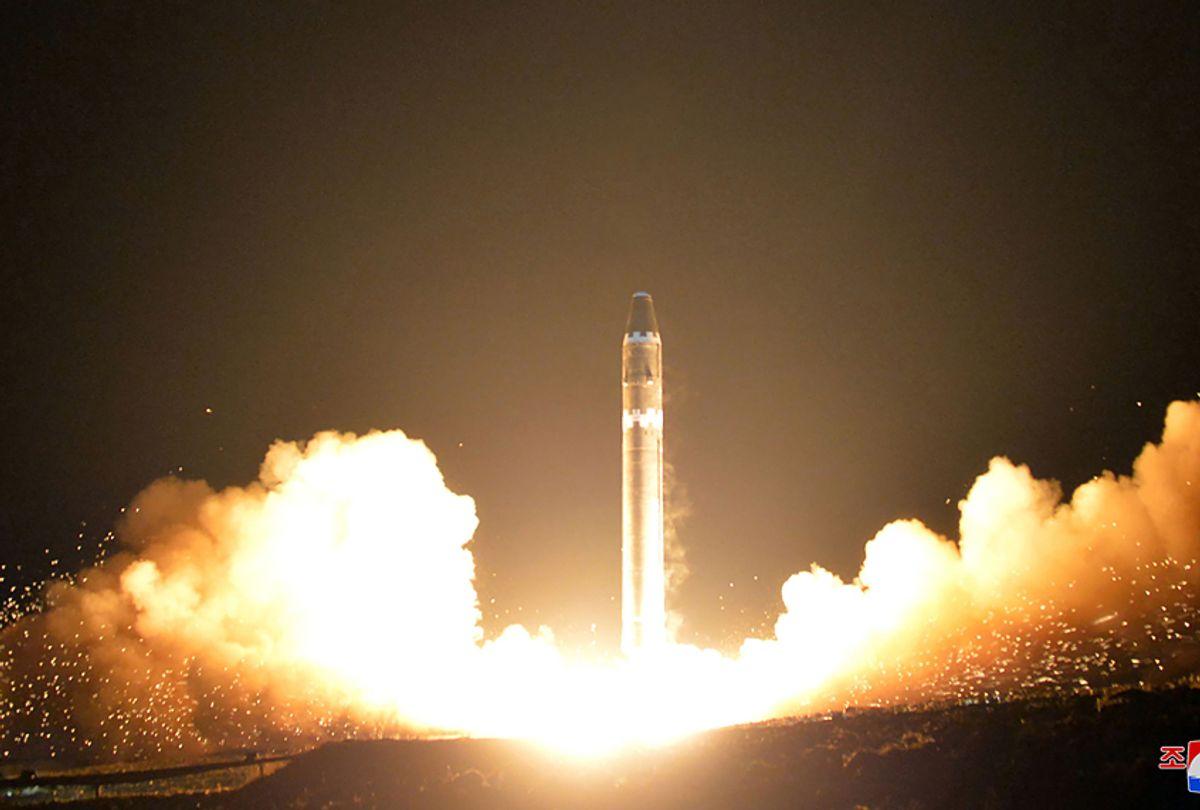 Test launch of North Korean Hwasong-15 missile,  November 30, 2017 (Getty/KCNA via KNS)
