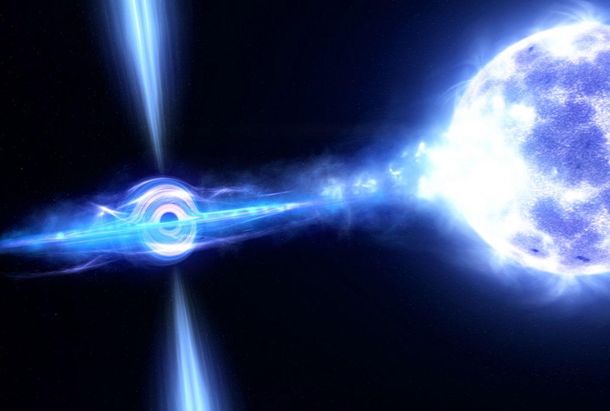 "A still from NOVA's ""Black Hole Apocalypse"" (PBS)"