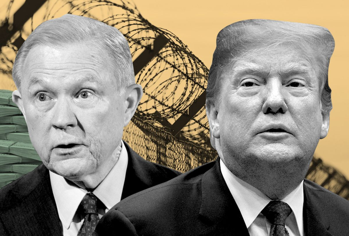 Jeff Sessions: Donald Trump (AP/Getty/Photo Montage by Salon)