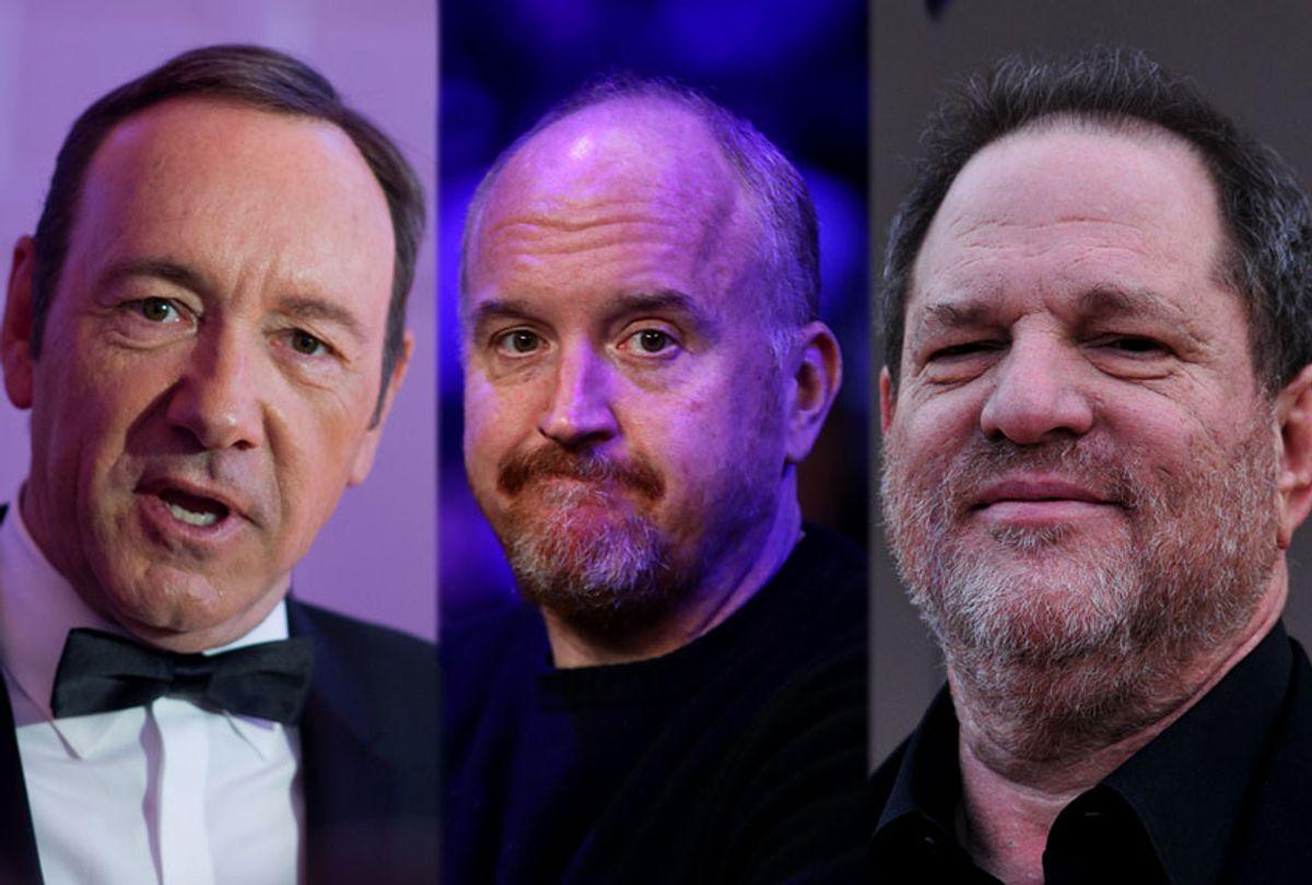 Kevin Spacey, Louis CK and Harvey Weinstein (Getty/Carl Court/Al Bello/Dave Kotinsky)