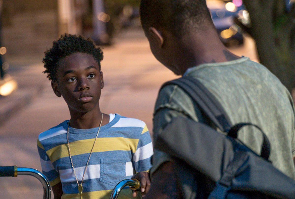 "Alex Hibbert as Kevin and Jason Mitchell as Brandon in ""The Chi"" (Showtime/Matt Dinerstein)"