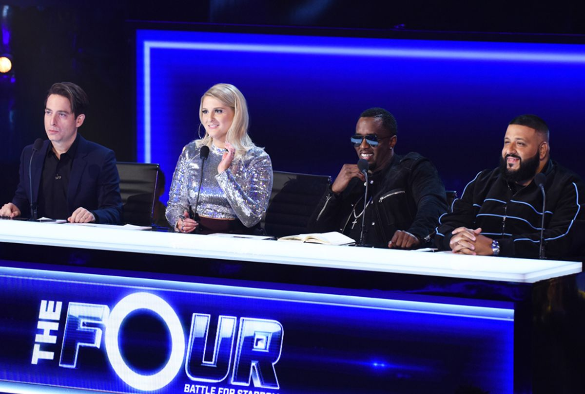 """Judges Charlie Walk, Meghan Trainor, Sean """"Diddy"""" Combs and DJ Khaled in """"The Four: Battle for Stardom"""" (FOX/Ray Mickshaw)"""