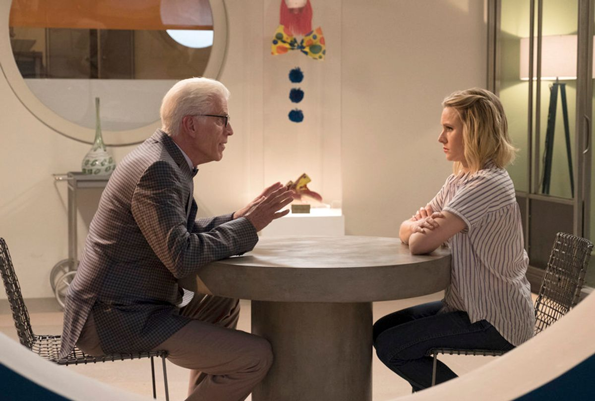 """Ted Danson and Kristen in """"The Good Place"""" (NBC)"""