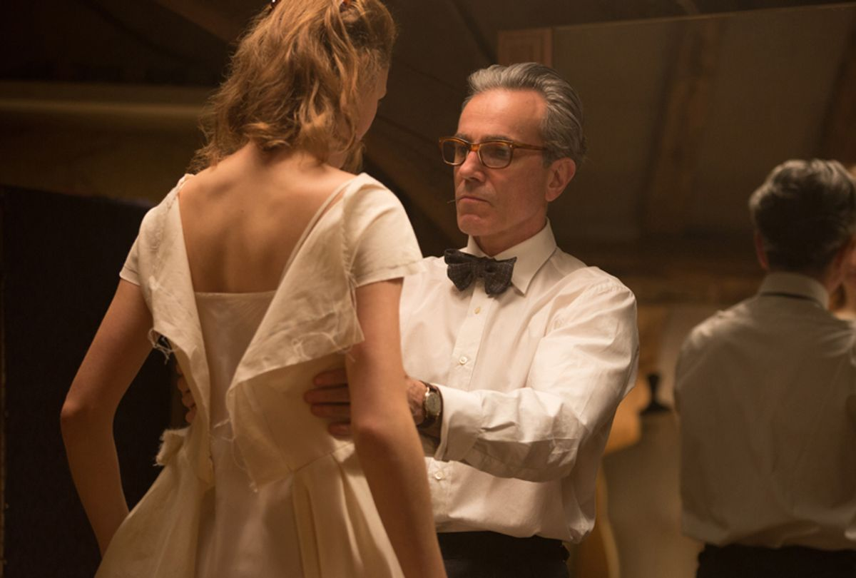 """Vicky Krieps and Daniel Day-Lewis in """"Phantom Thread"""" (Focus Features/Laurie Sparham)"""