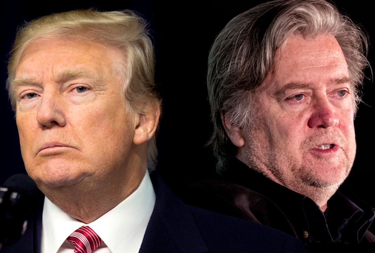 Donald Trump; Steve Bannon (Getty/Chris Kleponis/Drew Angerer)