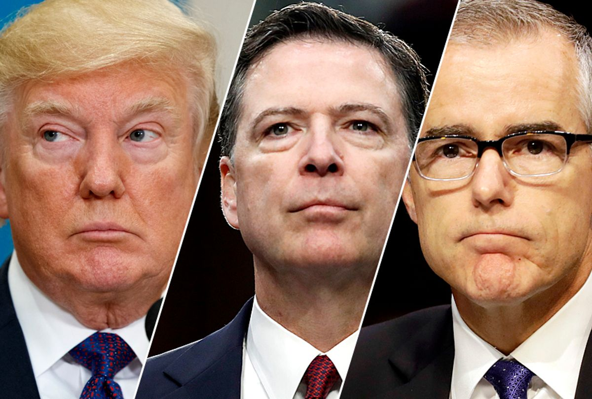 Donald Trump; James Comey; Andrew McCabe (AP/Evan Vucci/Alex Brandon/Jacquelyn Martin)