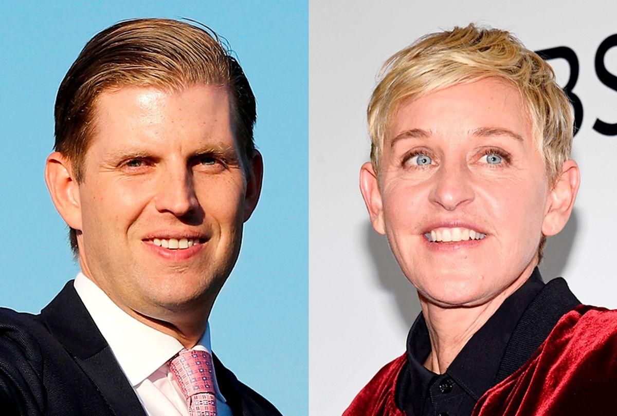 Eric Trump; Ellen Degeneres (Getty/Elsa/Kevork Djansezian)