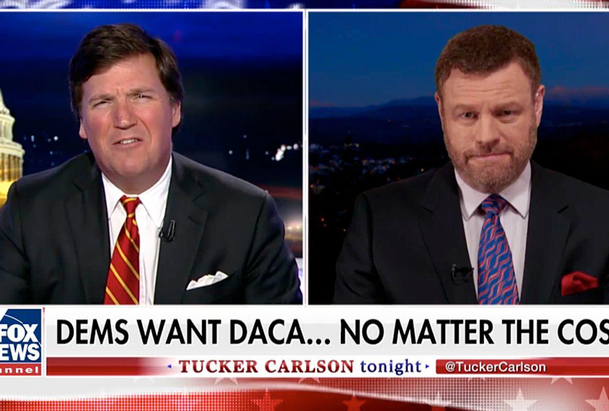 "Tucker Carlson and Mark Steyn on ""Tucker Carlson Tonight"" (Fox News)"