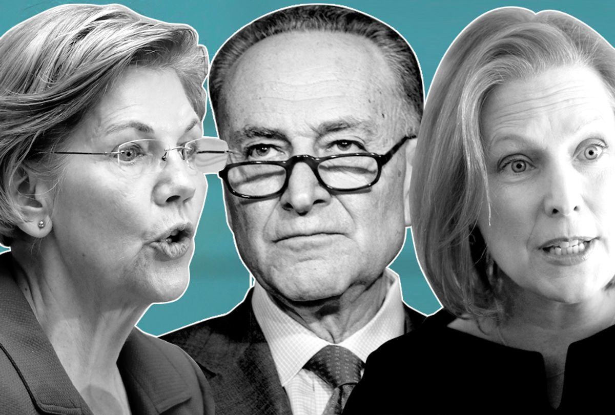 Elizabeth Warren; Chuck Schumer; Kirsten Gillibrand (Getty/AP/Photo Montage by Salon)